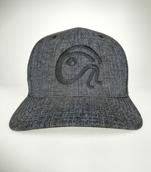 BLACK & GREY FLEXFIT EMBLEM CAP