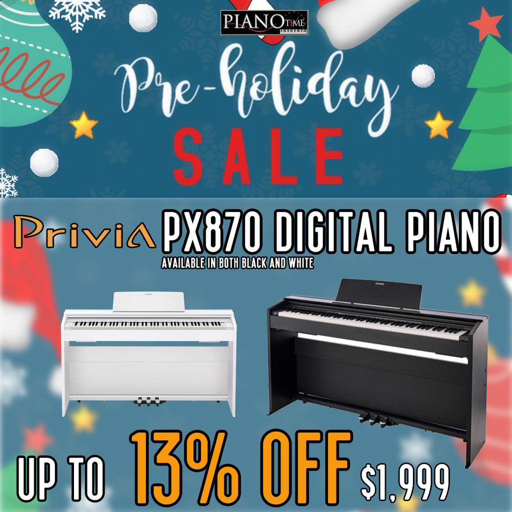 🥳PreHoliday Sale – Casio Privia PX870 Digital Piano up to 13% OFF