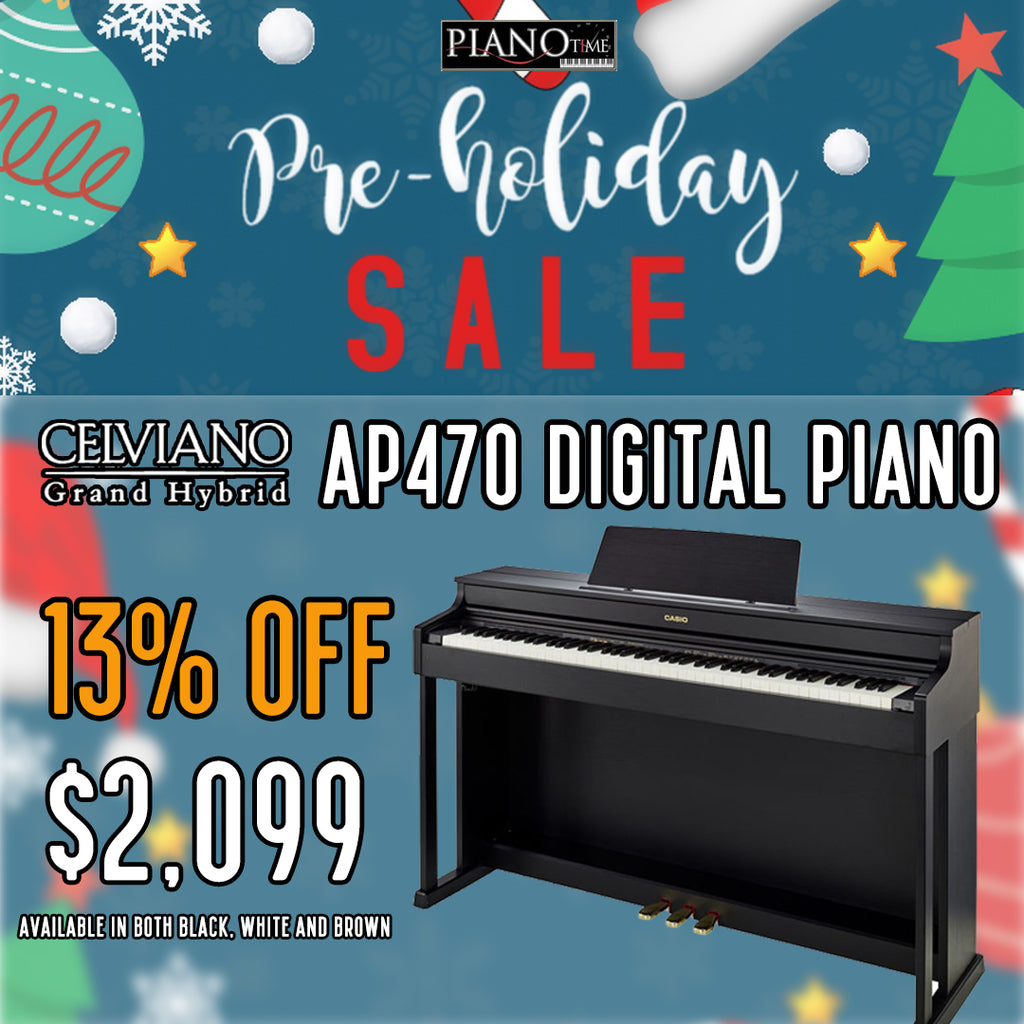 🎅Pre-Holiday Sale – Casio Celviano AP470 Digital Piano 13% OFF
