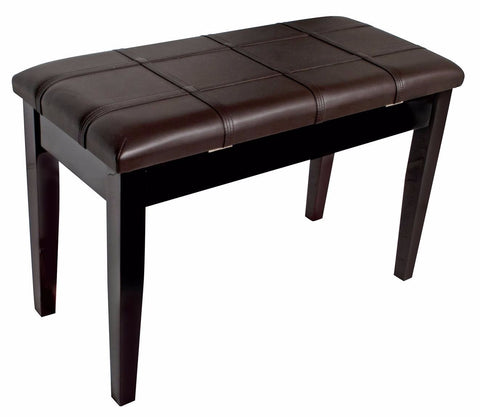 Piano/Keyboard Stool with Padded Seat & Storage - Polished Mahogany