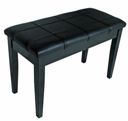 Piano/Keyboard Stool with Padded Seat & Storage - Black