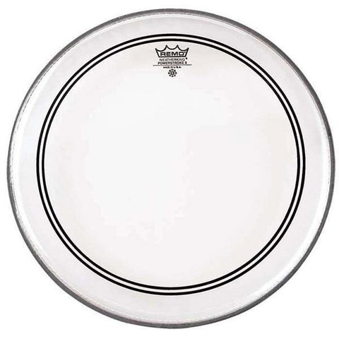 "Remo Powerstroke 3 Clear 20"" Bass Drum Head w/Clear Dot, 2.5""Falam P(P3-1320-C2)"