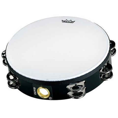 REMO - 8 Inch Tambourine Fiberskyn 3 Percussion, 16 Pairs Of Jingles