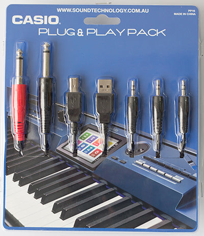 Casio Plug'n'Play Pack with multi-media cables and smartphone anti-slip mat (PP16)