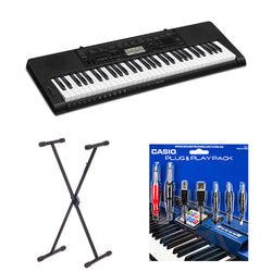 CASIO CTK3500 61 KEY ELECTRONIC KEYBOARD INCLUDE STAND/PLUG 'N' PLAY PACK