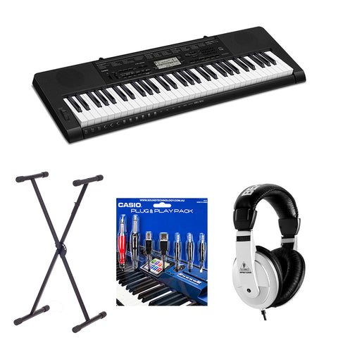 CASIO CTK3500 61 KEY ELECTRONIC KEYBOARD INCLUDE STAND/HEADPHONES/PLUG 'N' PLAY PACK