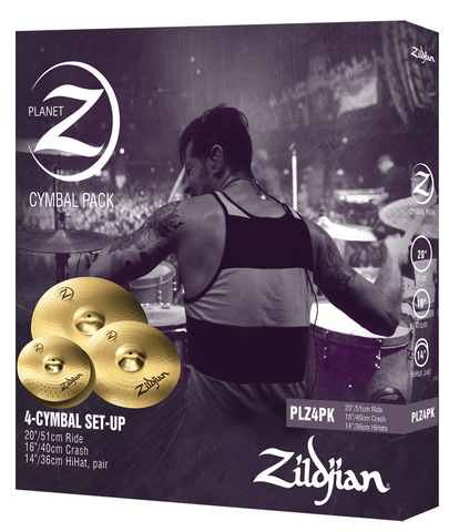 "ZILDJIAN PLANET-Z PACK (14' HATS, 16' CRASH, 20"" RIDE)"