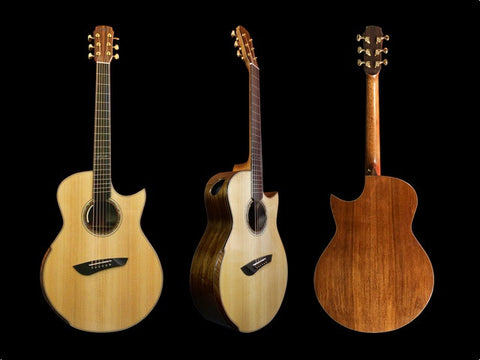 Maestro Raffles - MRCSBAFF Madagascar Rosewood with Adirondack Top and Fan Fret Acoustic Guitar