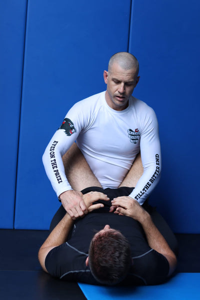If you have posture, win grips and then work to break the guard open.