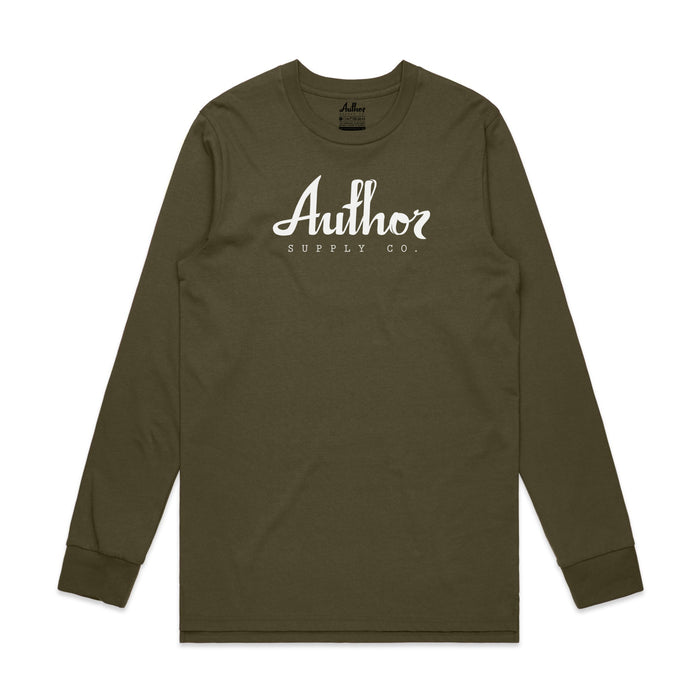 AUTHOR LOGO LONG SLEEVE (ARMY)