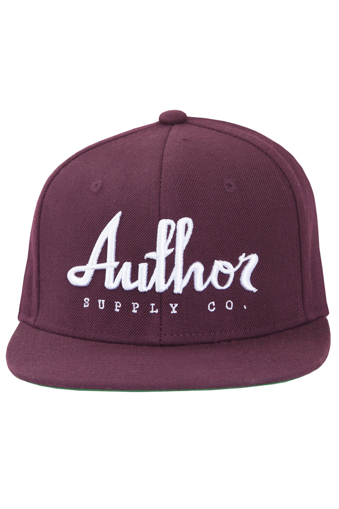 AUTHOR SNAPBACK - BURGUNDY/WHITE