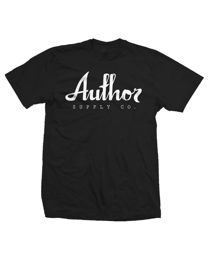 AUTHOR LOGO TEE - BLACK (JUNIOR)