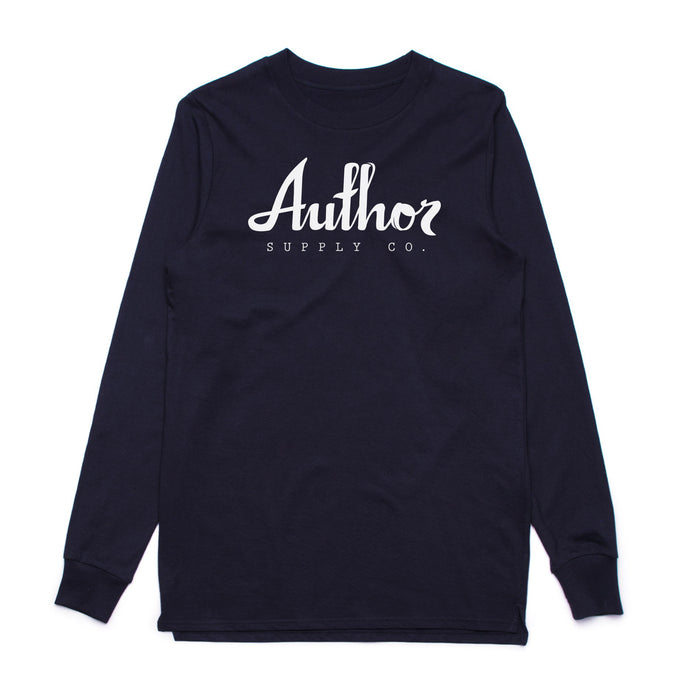 AUTHOR LOGO LONG SLEEVE (NAVY)