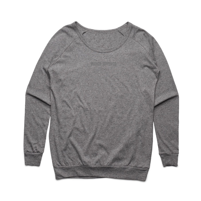 WOMENS RELAXED FIT CREW (GREY MARLE)