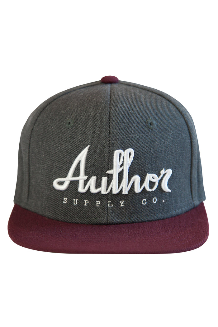 AUTHOR SNAPBACK - BURGUNDY/ASHPHALT