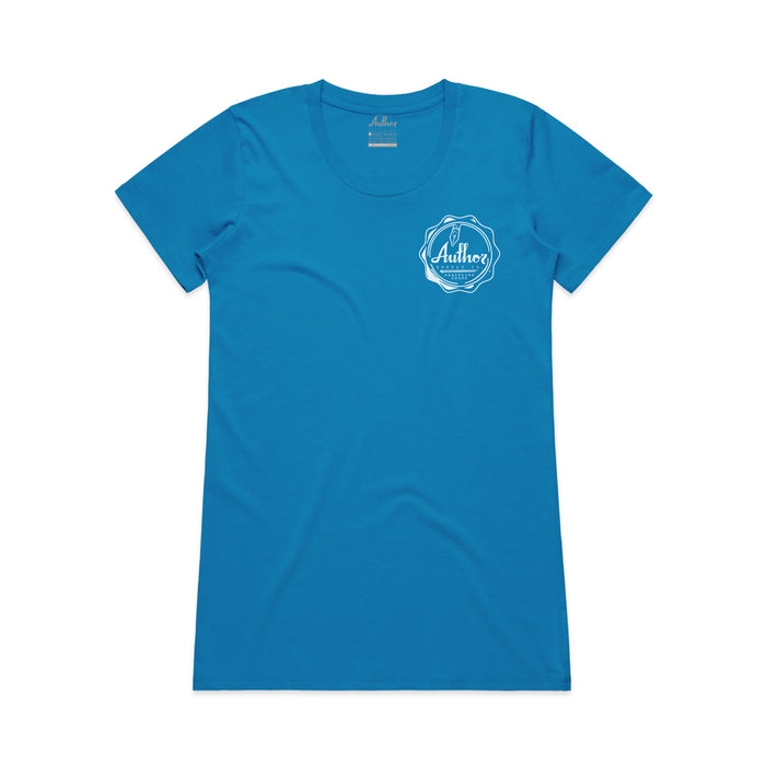 WOMENS WAX SEAL POCKET TEE (ARTIC BLUE)