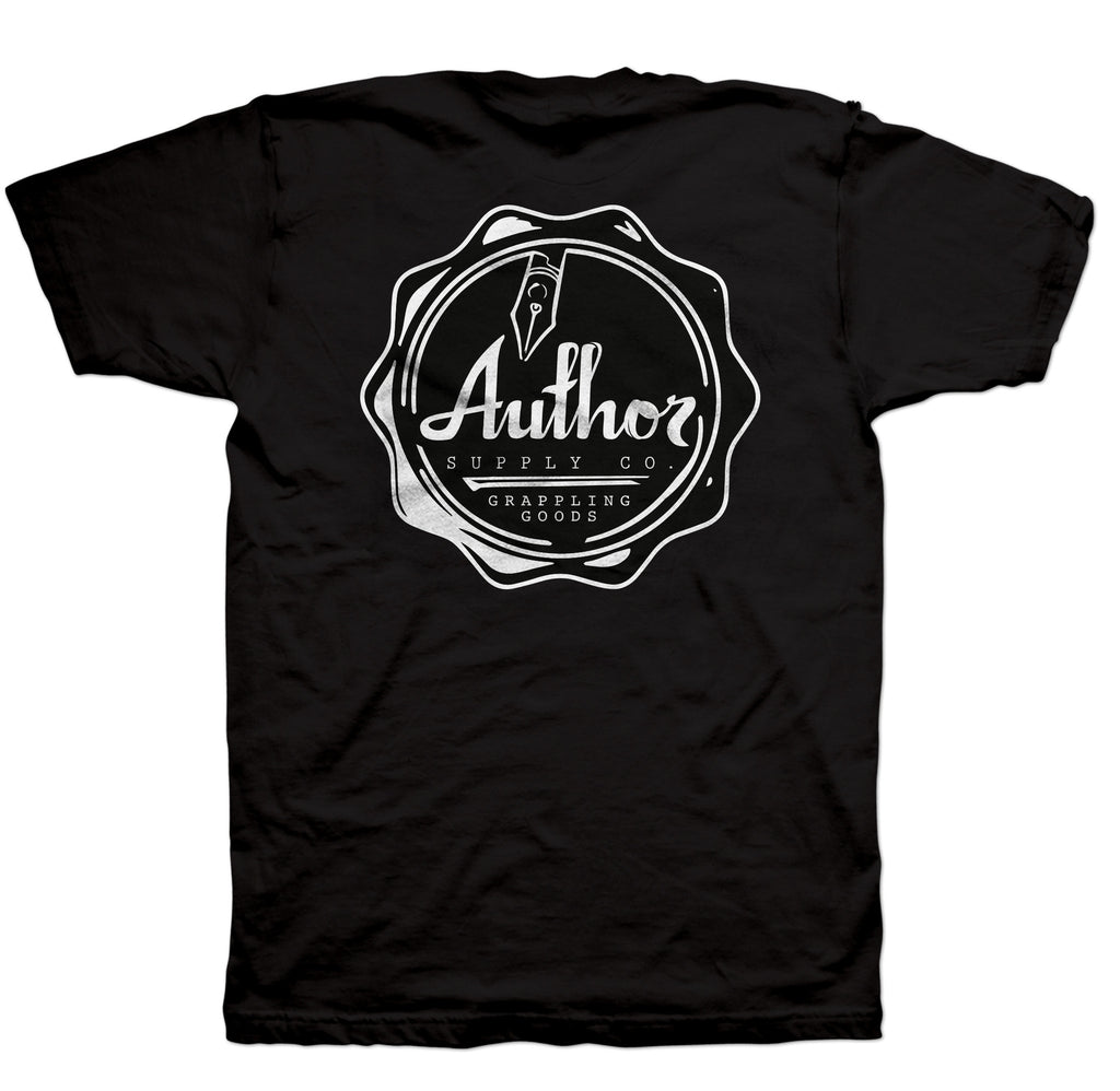 AUTHOR SEAL TEE - BLACK