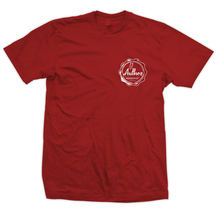 AUTHOR SEAL TEE - BURGUNDY