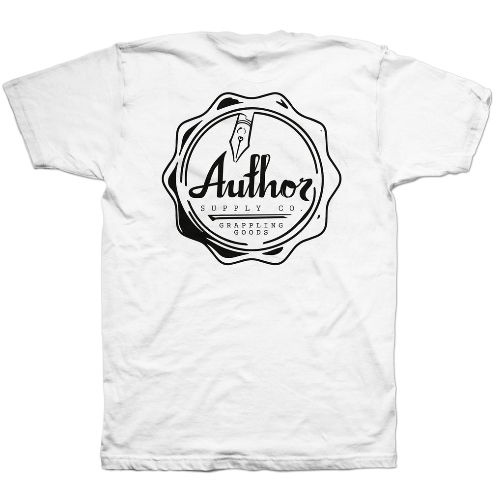 AUTHOR SEAL TEE - WHITE