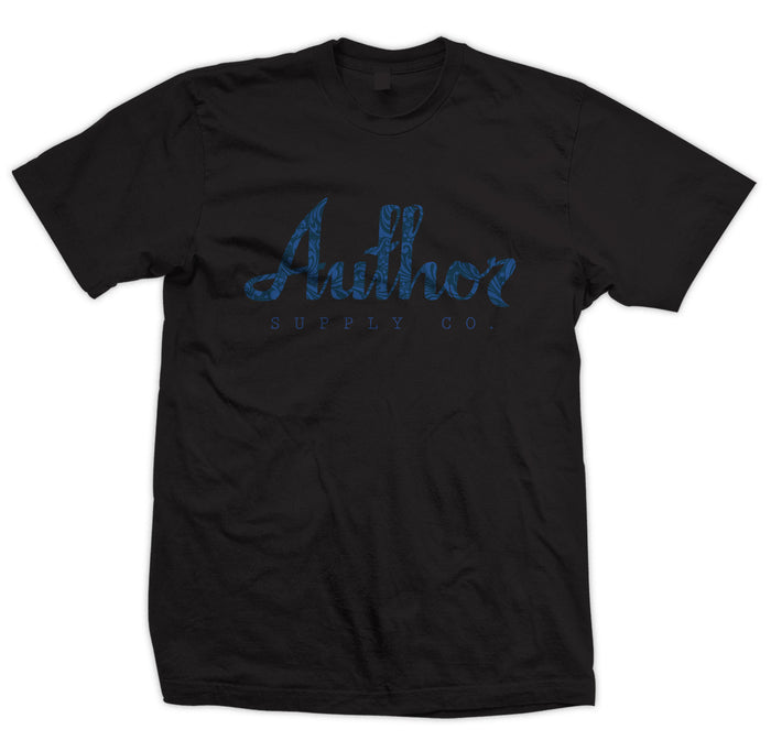 AUTHOR FILIGREE TEE - BLACK