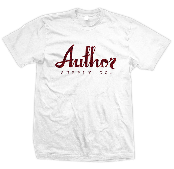 AUTHOR FILIGREE TEE - WHITE