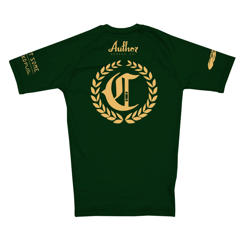 RASH GUARD (DEEP FOREST/GOLD) - AUTHOR x CLASSIC
