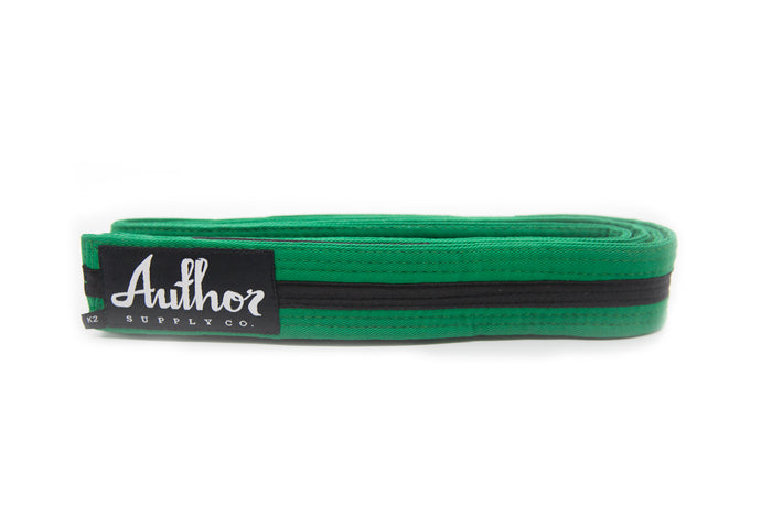 BELT - JUNIOR GREEN/BLACK