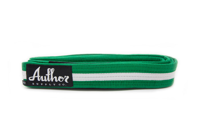 BELT - JUNIOR GREEN/WHITE
