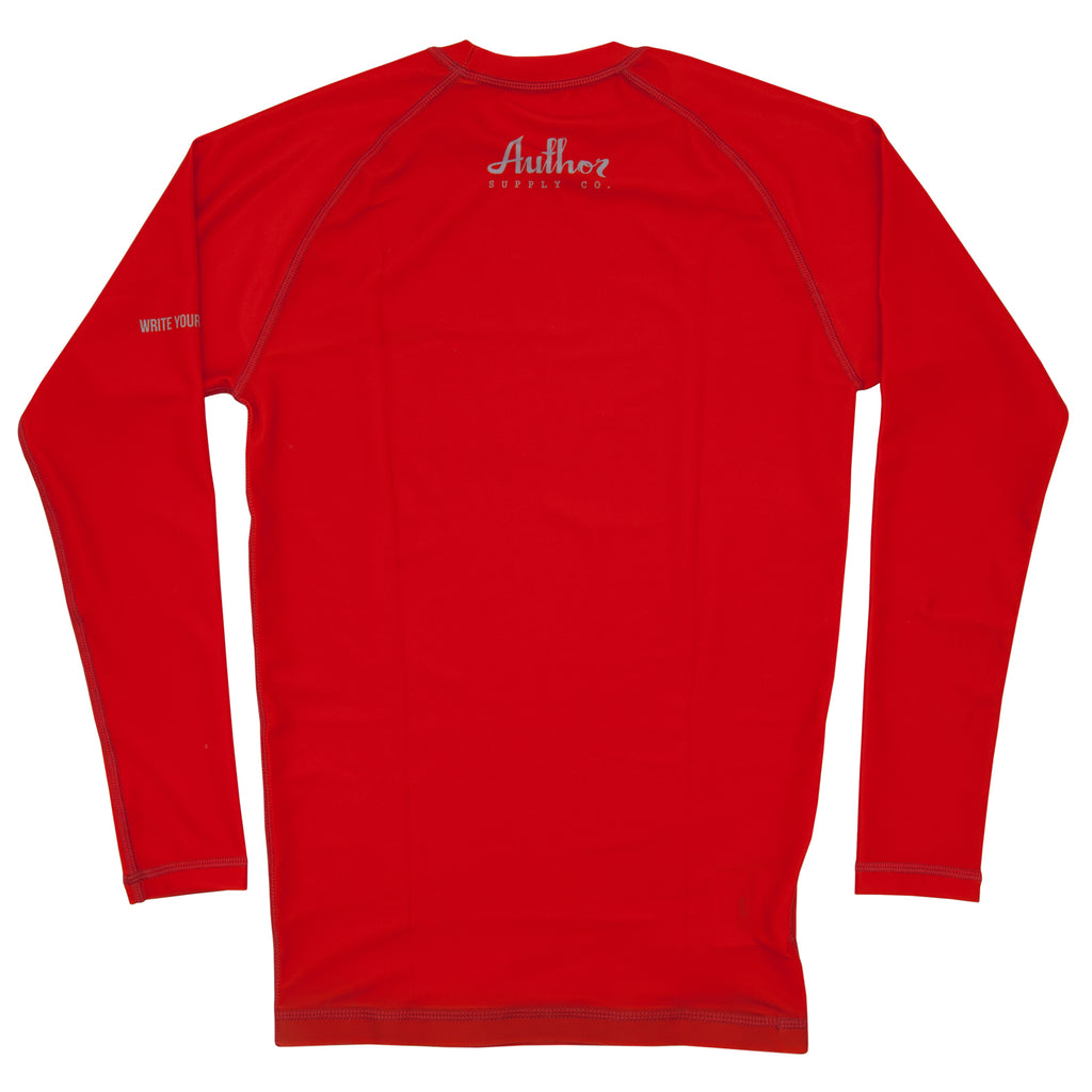 RASH GUARD (RED) - VOLUME TWO (LONG SLEEVE)