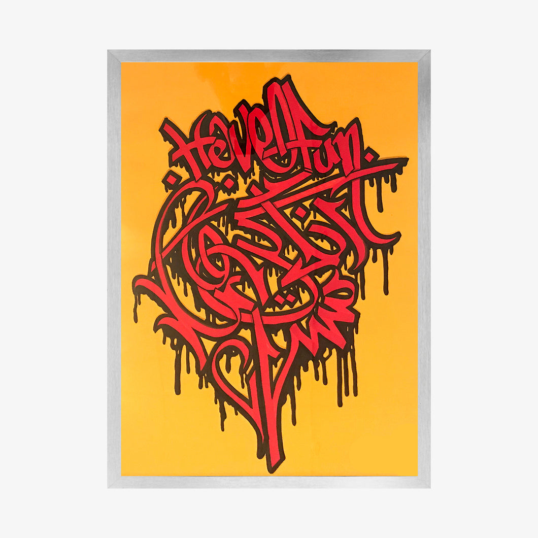 A1one - Life is Ephemeral / Zendegi Faani Ast (misc. colours) (framed) - Kultmarket