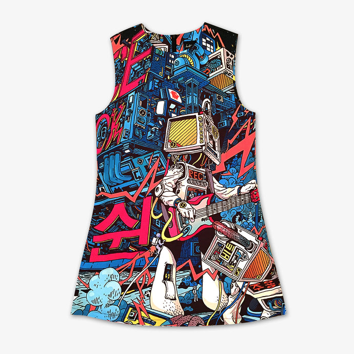 Space Hardrock Machine Dress - Kultmarket