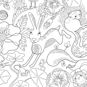 Willow & Hare colouring in sheet