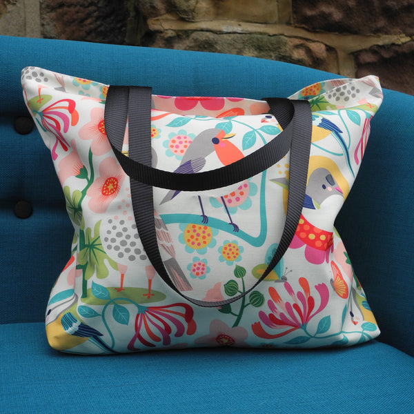 Bright Birds Tote Bag by Rollerdog