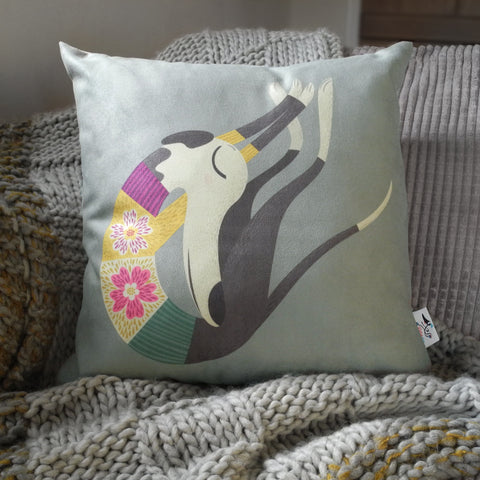 Fred the Whippet Rollerdog medium cushion