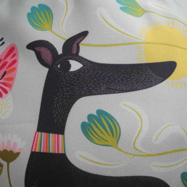 Close up of Freddie the Tripod tote bag