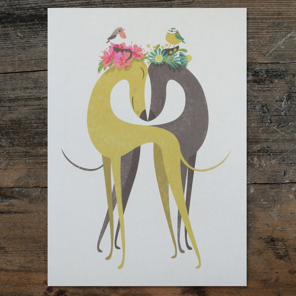 Hounds of Love postcard by Rollerdog