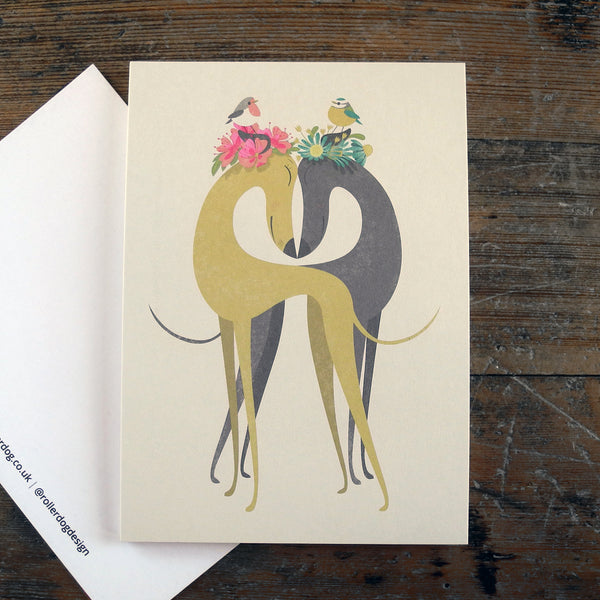 Hounds of Love postcard showing the blank back by Rollerdog