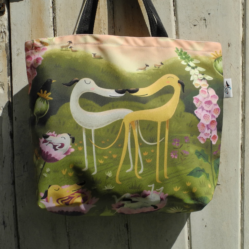 Hounds of Love tote bag, front view