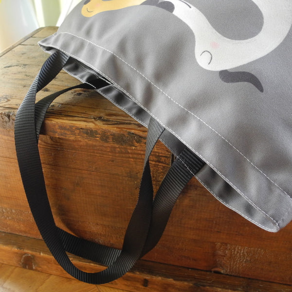 Hounds of Love Tote Bag in Grey