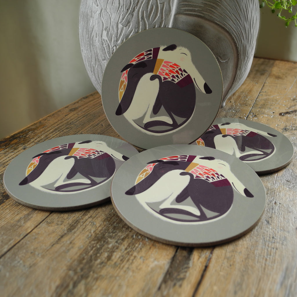 A set of 4 Mabel & Olive coasters by Rollerdog