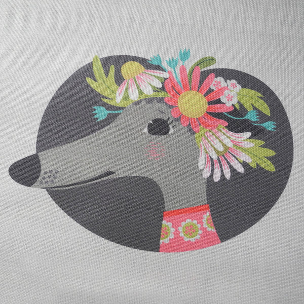 Close up of the Noses & Poses tea towel by Rollerdog