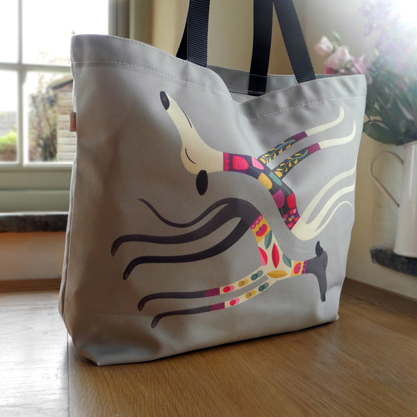 Sleep Sighthounds tote bag by Rollerdog - front view