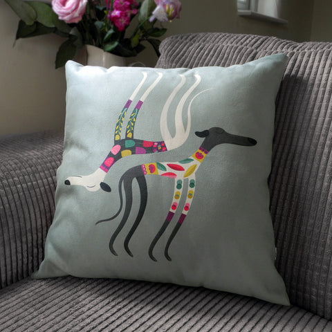 Sleepy Sighthounds cushion