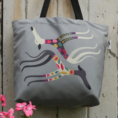 Rollerdog Sleepy Sighthounds tote bag