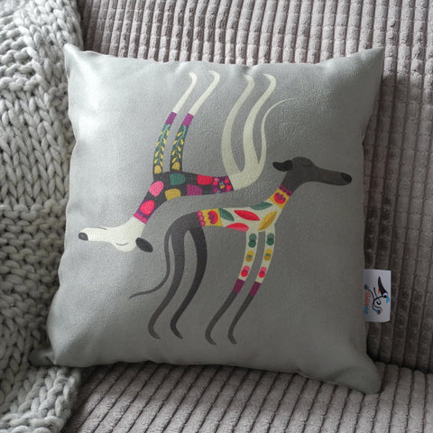 Sleepy Sighthounds Rollerdog mini cushion