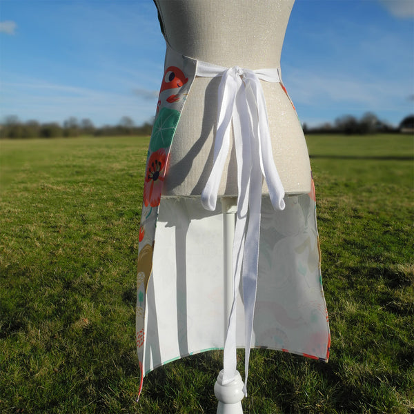Back view of Willow and Hare apron by Rollerdog