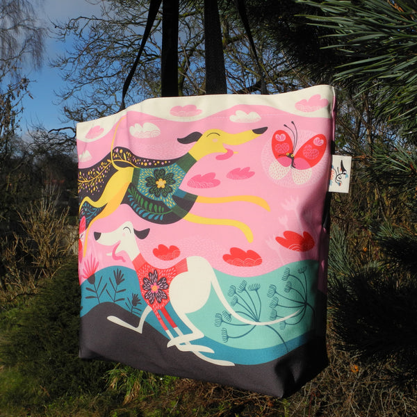 Zoomies tote bag by Rollerdog