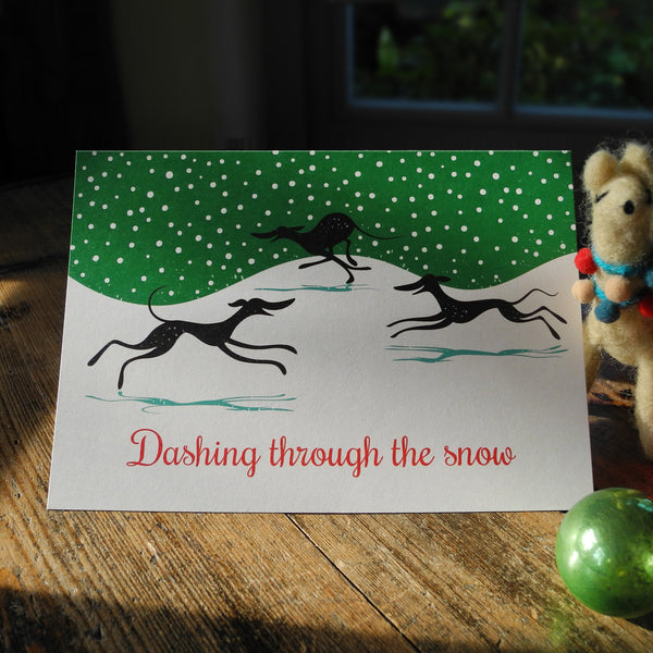 Dashing through the Snow Christmas card by Rollerdog
