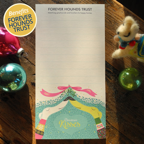Christmas notepad designed for Forever Hounds Trust