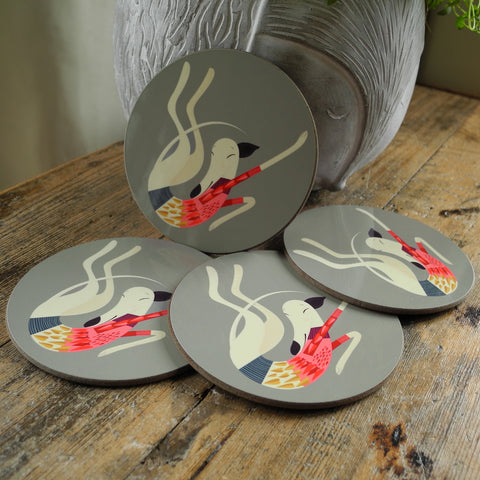 Poppy the Greyhound Coaster Set